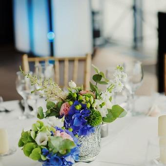 Stalų dekoras Green Hall restorane