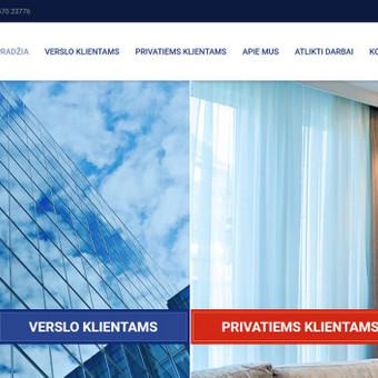 Sukurtas reprezentacinis puslapis, unikalus dizainas, pritaikytas prie WordPress TVS, sukurta mobilioji svetainės versija.