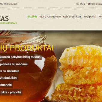 Sukurta internetinė parduotuvė, pritaikyta mobiliesiems įrenginiams.