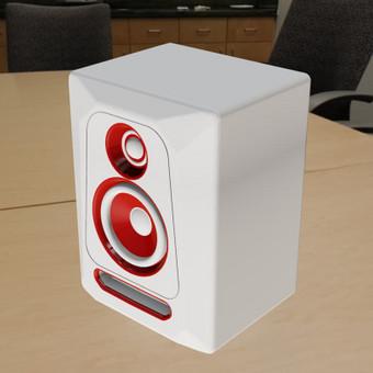 Garso kolonėlės 3D modelis