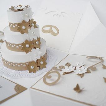 Vestuvinis kvietimas dėžutėje