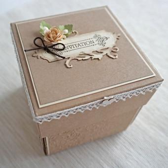 Sveikinimas - kvietimas dėžutėje