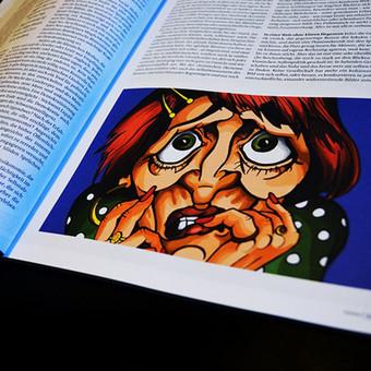 Iliustracijos Austrų politiniui žurnalui DATUM 2016. Kūriniai iliustruoja tekstą, apie vyresnio amžiaus žmonių baimę galvojant apie ateitį, ekonomiką, politiką bei jaunimo sprendimus.