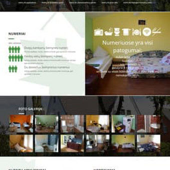 """Svečių namų """"Klevas"""" Palangoje internetinė svetainė www.vaineikio13.lt"""