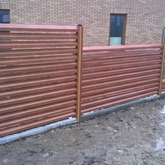 Plieninių tvorų gamyba, žaliuzinė tvora