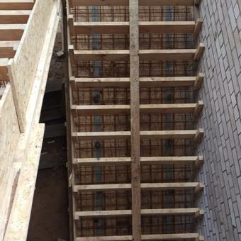 Monolitinių laiptų įrengimas