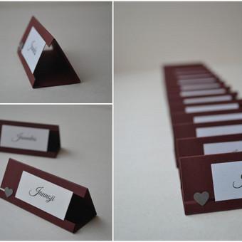 Stalo kortelė.
