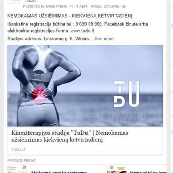 Kineziterapijos studija TuDu  PVZ.: aktyvus link'as į tinklalapį su papildomomis nuorodomis į atskiras paslaugas