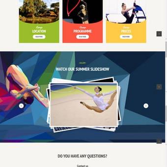 Gimnastikos stovyklos internetinė svetainė. http://GRScamp.lu/
