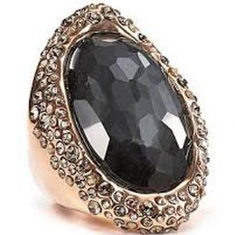 moteriškas aukso 575 žiedas su mineralo brilliant shungite kristalu