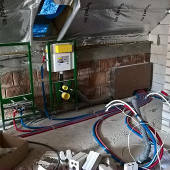 Inžinieriniai tinklai: el.instaliacija, santechnika.
