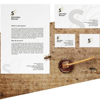 Salomejos Bitynas. Logo, firminis stilius ir svetainė.