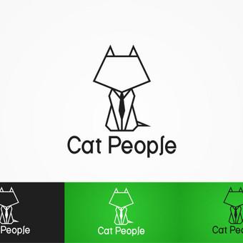 Logotipas skirtas kačių drabužių parduotuvei.