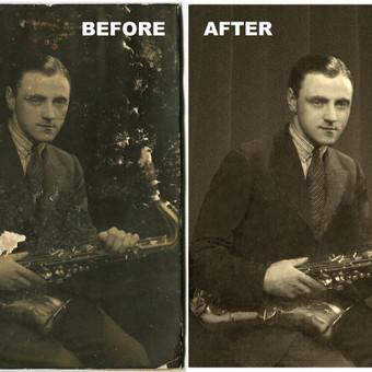 Nuotraukų restauravimas, retušavimas