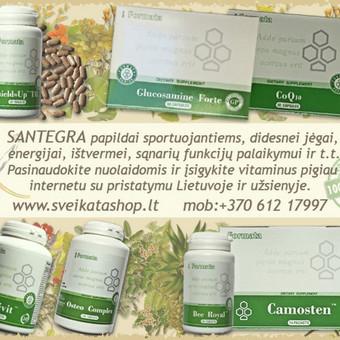 SANTEGRA vitaminai SPORTUOJANTIEMS - NUOLAIDOS iki 15 %.  Natūralūs produktai gali padėti papildyti kasdienį maisto racioną ir pasiekti geresnį rezultatą.