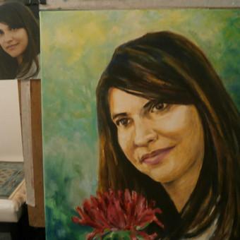 PORTRETAS. Drobė, aliejus, 45x40, 2015. Skubus užsakymas iš nuotraukos. Galima tapyti, piešti  anglimi, pastele gyvai, pagal pageidavimą pasirenkant vietą pas klientą ar dailininką.
