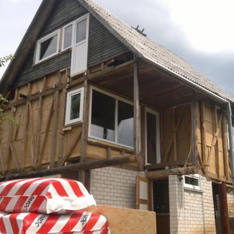 Karkasiniu namu statyba remontas  renovavimas Stogu dengimas / ovidijus / Darbų pavyzdys ID 288033