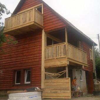 Karkasiniu namu statyba remontas  renovavimas Stogu dengimas / ovidijus / Darbų pavyzdys ID 288035