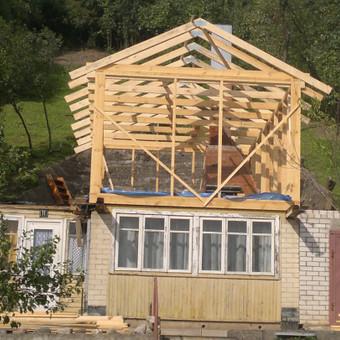 Karkasiniu namu statyba remontas  renovavimas Stogu dengimas / ovidijus / Darbų pavyzdys ID 288041