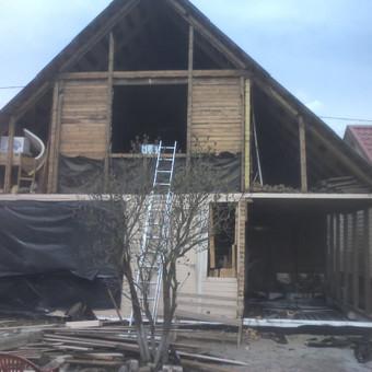 Karkasiniu namu statyba remontas  renovavimas Stogu dengimas / ovidijus / Darbų pavyzdys ID 288045