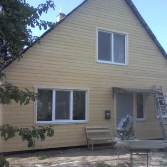 Karkasiniu namu statyba remontas  renovavimas Stogu dengimas / ovidijus / Darbų pavyzdys ID 288047