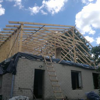 Karkasiniu namu statyba remontas  renovavimas Stogu dengimas / ovidijus / Darbų pavyzdys ID 288057