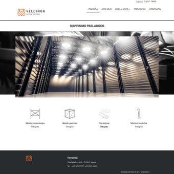 www.veldinga.lt dizainas Ruby on Rails karkasas