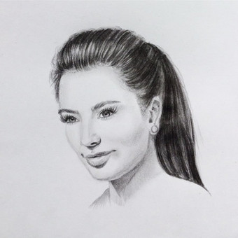 Portretai, tapyba, piešimas / Monika / Darbų pavyzdys ID 288825