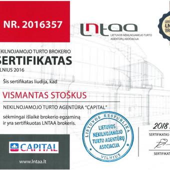 Sertifikuotas nekilnojamo turto brokeris / Vismantas Stoškus / Darbų pavyzdys ID 290183