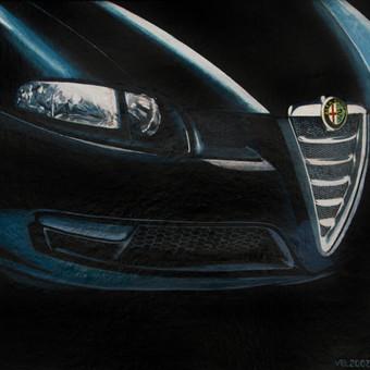 Alfa Romeo,2007,kartonas,aliejus,60x60