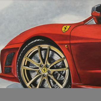 Tviskantis Ferrari diskas,2008,kartonas,aliejus,70x110