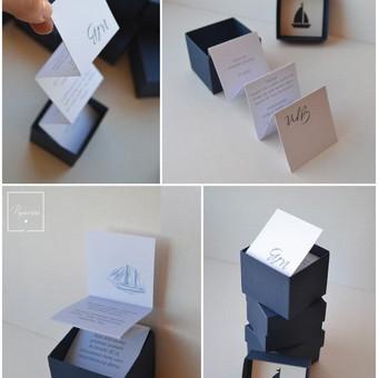 Kvietimas. Dėžutės dydis - 50 x 50 x 50.