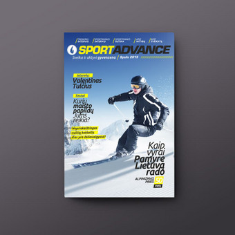 Sporto žurnalo dizainas