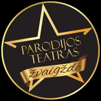 """Logotipas  """"Parodijų teatrui""""."""