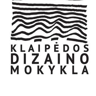"""Logotipas """"Klaipėdos dizaino mokyklai""""."""