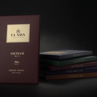 Šokolado La Naya pakuotės dizaino fotosesija.