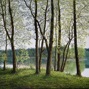"""""""Pavasario gaiva"""" Paveikslas tapytas ant drobės, aliejiniai dažai, dydis 80x60cm. (PARDUOTAS)"""