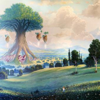 """""""Didysis globėjas"""" Paveikslas tapytas ant drobės aliejiniais dažais, dydis 150x100cm (PARDUOTAS)"""
