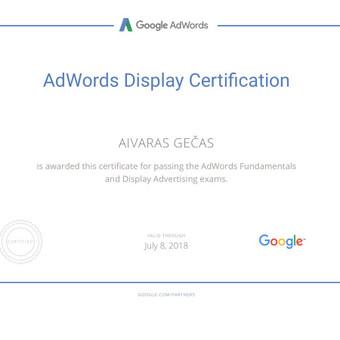 Sertifikuota Google Adwords, FB Reklama / Aivaras / Darbų pavyzdys ID 298893