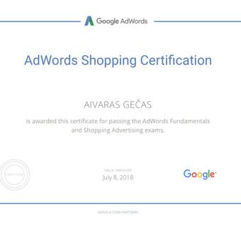 Sertifikuota Google Adwords, FB Reklama / Aivaras / Darbų pavyzdys ID 298899