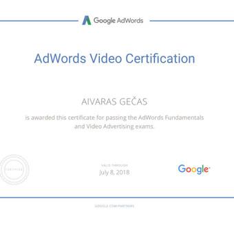 Sertifikuota Google Adwords, FB Reklama / Aivaras / Darbų pavyzdys ID 298903