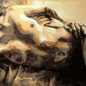 """Paveikslas """"JK17-0214_Kūnas"""", aliejus - drobė, 100x70cm. Užsakomasis darbas tapytas iš nuotraukos."""