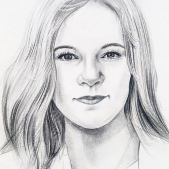 Portretai, tapyba, piešimas / Monika / Darbų pavyzdys ID 302945