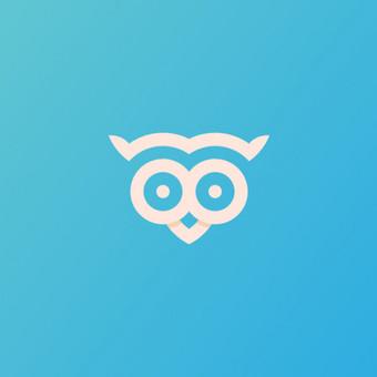 OWL pin - PARDUODAMAS      Logotipų kūrimas - www.glogo.eu - logo creation.