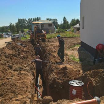 kanalizacijos vandenvalos įrengimas