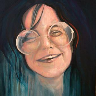 """Darbas pagal užsakymą.  """"Janes Joplin"""". Drobė, aliejus. 120x100cm. 2012m"""
