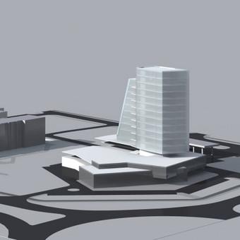 Sostenos autocentro su biurių kompleksu rekonstravimo projekto konsepcija