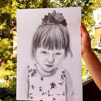Portretai, tapyba, piešimas / Monika / Darbų pavyzdys ID 309189