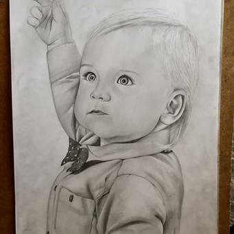 Dailininkė - Portretai iš nuotrauku / Guoda Verksnyte / Darbų pavyzdys ID 309257
