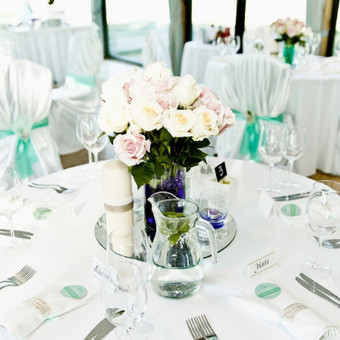 Vestuvių ir visų švenčių dekoravimas / Baltos rasos / Darbų pavyzdys ID 309331